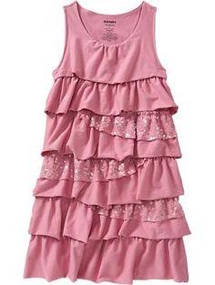 OldNavy Girls Tiered Sequined Jersey Dresses