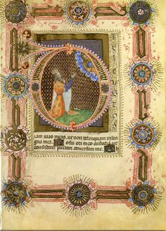 """Book of Hours"" from about 1400 AD."