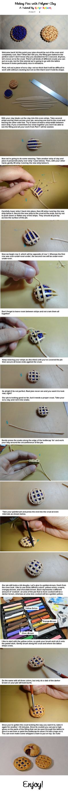 Polymer Clay Pie Tutorial PART 2 by Colour-Splashes.deviantart.com on @DeviantArt