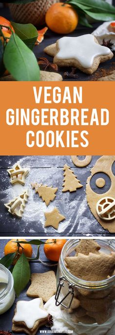 Here's how to make vegan gingerbread cookies at home! The recipe is very easy to follow and the result will be perfect every time! #cookies #gingerbread #christmasrecipes https://gourmandelle.com/vegan-gingerbread-cookies/