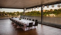 The Riverbend Terrace is a spacious covered deck with a magnificent river outlook. This outdoor space is suitable for private parties, launches or intimate receptions.