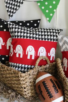 Hey, I found this really awesome Etsy listing at http://www.etsy.com/listing/156946978/elephant-houndstooth-pillow