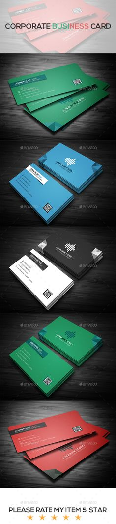 Corporate Business Card - Business Cards Print Templates Download here…