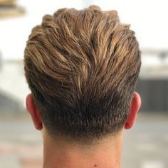 Medium-Length Taper and Brushed Back Hair