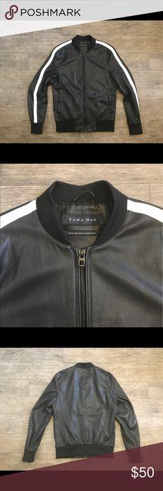 Zara Man Black Jacket Size Medium • 100% Polyester  •EUR M •USA M •Mex 40 Zara Jackets & Coats