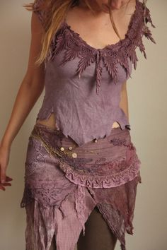 Pagan Skirts Wicca Witch: Wild violet flame Fae of the natural wild spirit wrap… Hippie Style, Gypsy Style, Boho Gypsy, Hippie Boho, Bohemian Style, Boho Chic, My Style, Ropa Shabby Chic, Moda Hippie
