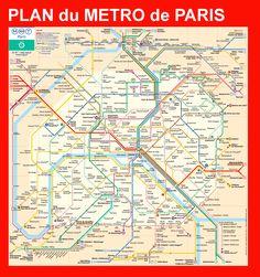 Plan métro Paris - plan métro Parisien