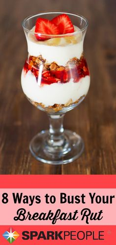 Bored with Your Healthy Breakfast? Great ideas here for new & yummy healthy breakfasts!   via @SparkPeople #breakfast #recipe #healthyeating