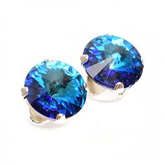 Sterling Silver stud earrings expertly made with sparkling Bermuda Blue crystal from SWAROVSKI® for Women. Sterling Silver Earrings Studs, Dangle Earrings, Jewellery Uk, Jewelry, Perfect Gift For Her, Blue Crystals, Dangles, Swarovski, Sparkle