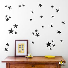 Cheap children decoration, Buy Quality star wall stickers directly from China wall sticker baby Suppliers: Stars Wall Stickers Baby Nursery Stars Wall Decals Kids Room DIY Easy Wall Stickers Children Decors