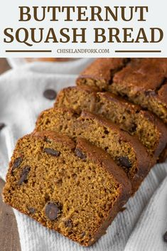 Homemade butternut squash bread is a unique twist on its more popular pumpkin counterpart but is a favorite fall recipe that is quick to make. Butternut Squash Puree Recipe, Fall Recipes, Apple Recipes, Pumpkin Recipes, Bread Recipes, Easy Bread, Pumpkin Dessert, Pumpkin Bread, Sweet Bread