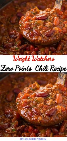 Even adults will love this mildly seasoned and sweet kids' favorite chili recipe. All you need is one pot, 30 minutes, and only a few simple ingredients. Weight Watchers Chili, Weight Watcher Desserts, Weight Watchers Casserole, Weight Watchers Meal Plans, Weight Watcher Dinners, Weight Watchers Smart Points Recipies, Smartpoints Weight Watchers, Skinny Recipes, Ww Recipes