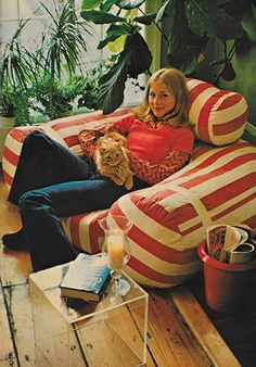 July 1973. 'Anybody can sew a dress or a blouse or a skirt. But only Butterick people can sew a sofa.'