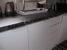 kontaktplast svart marmor