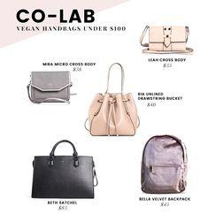 Affordable Vegan Handbags Brands   Under $100