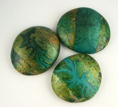 https://flic.kr/p/8trLpS | polymer clay cabochons | For my inspiration for this tiny series, see my blog:  janiceabarbanel.blogspot.com/2010/08/out-of-studio-wednes...