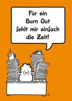 Burn Out   sheepworld   Echte Postkarten online versenden   sheepworld