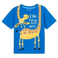bluezoo Boy's blue giraffe print t-shirt- at Debenhams.com