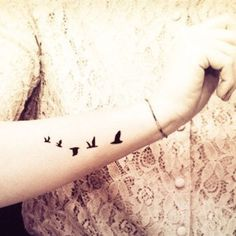5pcs Flying Birds Swallow Tattoo - InknArt Temporary Tattoo - pack tattoo quote wrist ankle body sticker anchor fake tattoo