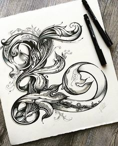 """WEBSTA @ goodtype - """"E"""" by @vicleelondon for @inkdropletcreations.#StrengthInLetters#Goodtype"""