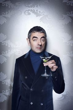 Rowan Atkinson in Live Magazine today. Taken shortly after his car crash and despite his broken shoulder was a true professional.