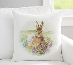 PETER COTTONTAIL~Meadow Bunny Print Pillow Cover #potterybarn