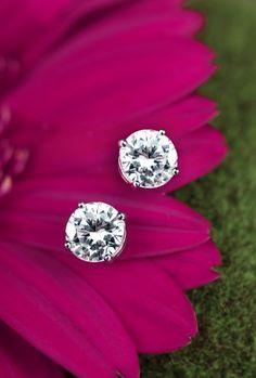 perfectly cut diamond studs