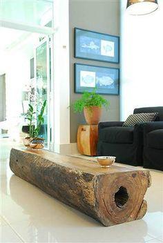 Troncos de madeira: charme natural na decoração