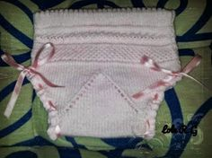 Caprichos con mimo y con amor: Tejemos unas braguitas??? Tutorial basico Knitting Stiches, Free Knitting, Baby Knitting, Crochet Baby, Knitting Patterns, Knit Crochet, Baby Wearing, Baby Dress, Drawstring Backpack