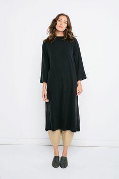 Eva Dress in Raw Silk Broadcloth – Elizabeth Suzann