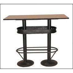 table haute industrielle 110 table haute industrielle mange debout et table haute. Black Bedroom Furniture Sets. Home Design Ideas