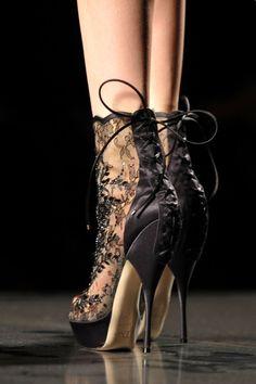 lacy boot heels. J'adore Dior