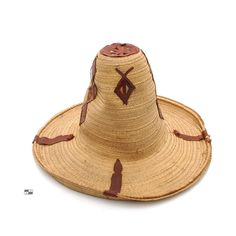 A straw and leather hat from Algeria