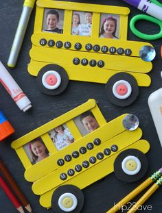 School Bus Craft from Craft Sticks