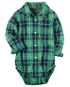 Baby Boy Plaid Button-Front Bodysuit | Carters.com