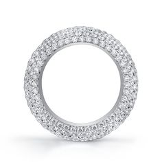 18 Karat White Gold Ring accented with French Cut Micro Pave Diamonds Hand Ring, White Gold Rings, Diamonds, Sparkle, Engagement Rings, French, Weddings, Band, Bridal