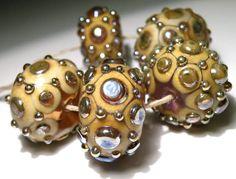 Handmade Lampwork Glass Beads SRA Nelli Rees 5 by beadmonamour