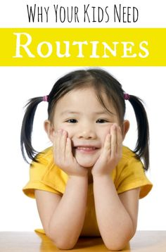 Kids need confidence and security in their life. Routines are necessary for kids to live in a secure environment. Find our how adding a routine to your family's daily life can transform your home into a happier one! #kids #parenting www.pintsizedtrea...