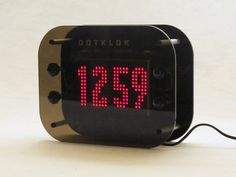 DOTKLOK is an open-source, hackable, Arduino-based digital clock that displays a series of unique time-telling animations. The passing of time is depicted with numbers and abstract/geometric patterns such as Morse code and minimal analog clock faces, and includes animations inspired by classic video games such as Pong, Tetris, Pacman, and Space Invaders.