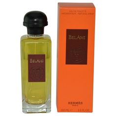 Launched by the design house of Hermes in 1986, BEL AMI by Hermes for Men posesses a blend of: mossy and woodsy, with top notes of leather and hints of lemon, herbs and sandalwood. It is recommended for romantic wear.