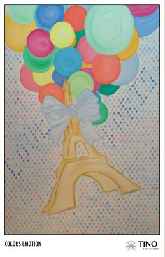 Up in the air.  Haven't you ever dream to travel around the world, to feel as light as a balloon and go discover every peace of magic this world has to offer?  #art #painting #paris #balloons #eiffel #walker #dior #luxury http://www.facebook.com/TinodenWeiss