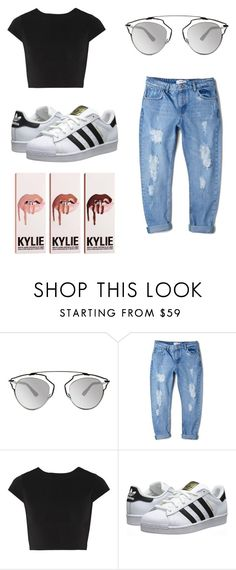 """""""Maddi Bragg Inspired Outfit x"""" by georgiejd ❤ liked on Polyvore featuring Christian Dior, MANGO, Alice + Olivia and adidas Originals"""