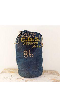 WW1 barrack denim laundry bag