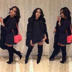 Don't mind if I do  #NycNights  Hairstylist : @kekehairstylist  Mua: @reneemadeulook  Vest : @foofiandbella