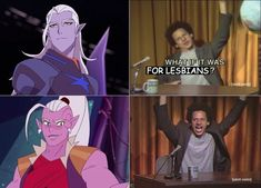 I don't watch voltron but they both hawt so it good mate Anime Meme, Fandom Crossover, She Ra Princess Of Power, Cartoon Crossovers, Avatar, Fandoms, Cartoon Shows, Movies Showing, Dreamworks