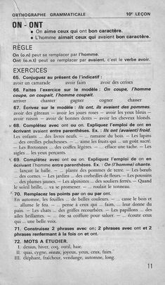 Manuels anciens: Bled, Cours d'orthographe CE2-CM (1979) : orthographe grammaticale French Class, French Lessons, I School, Science, Journal, Languages, Culture, Learning French, French Tips