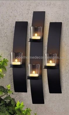 Diyhomedecor.us Metal Modern Art Wall Mount Candle Votive Holder Sconce Set | Do It Yourself Home Decoration Products http://www.coolhomedecordesigns.us/2017/06/19/diyhomedecor-us/