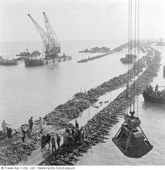 Aanleg van de Knardijk, Flevoland (1955-1957)