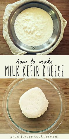 How to Make Milk Kefir Cheese benefits recipes recipes how to make smoothie smoothie recipes Kefir Yogurt, Kefir Milk, Water Kefir, Kefir Recipes, Cheese Recipes, Real Food Recipes, Kombucha, Kefir Benefits, Smoothie Recipes