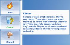 Zodiac Trait Pack Virgo Trait Virgos are the kings and queens of overthinking and try their best to master everything their talents. They're highly selective and love hard when they do love. Sims 4 Body Mods, Sims 4 Game Mods, Sims Games, Sims 4 Cas, My Sims, Sims Cc, Sims Traits, Sims 4 Challenges, The Sims 4 Packs